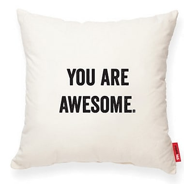 Posh365 Expressive ''You Are Awesome'' Decorative Cotton Throw Pillow