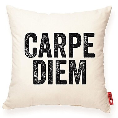 Posh365 Expressive ''Carpe Diem'' Decorative Cotton Throw Pillow