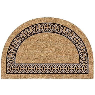 US Cocoa Mat DeCoir Half Round Charleston Border Doormat