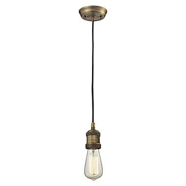 Innovations Lighting Bare Bulb 1-Light Mini Pendant; Brushed Brass