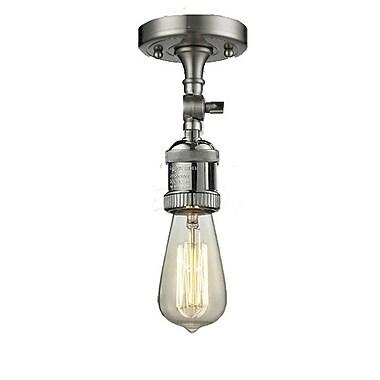 Innovations Lighting Bare Bulb 1-Light Semi Flush Mount; Antique Copper