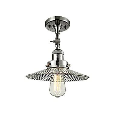 Innovations Lighting Holophane Glass 1-Light Semi Flush Mount; Antique Copper