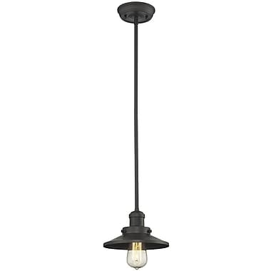 Innovations Lighting Railroad Shade 1-Light Pendant; Oil Rubbed Bronze