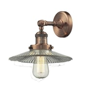 Innovations Lighting 1-Light Holophane Glass Wall Sconce; Antique Copper