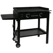 Blackstone 2-Burner Flat Top Propane Gas Grill w/ Side Shelves