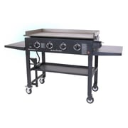 Blackstone Cooking Station 4-Burner Propane Gas Grill w/ Side Shelves