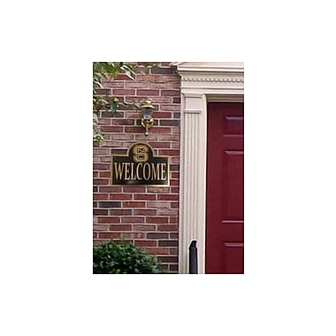 HensonMetalWorks Collegiate Mounted Welcome Plaque; North Carolina State