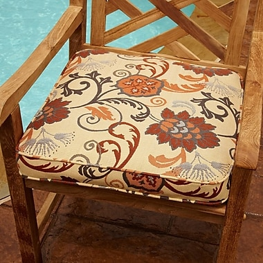 Mozaic Company Outdoor Sunbrella Dining Chair Cushion; 19'' W x 19'' D