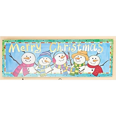 Worth Imports Lighted Merry Christmas Snowman Sign