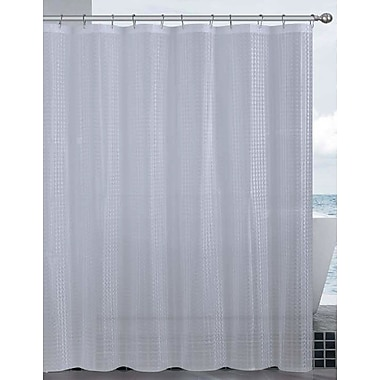 Dainty Home Mirage 3D Vinyl Shower Curtain Liner; Clear