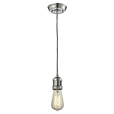 Innovations Lighting Bare Bulb 1-Light Mini Pendant; Polished Nickel
