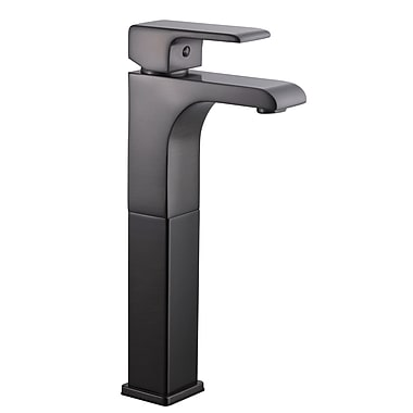 Design House Lyss Single Handle Single Hole Vessel Faucet; Brushed Bronze