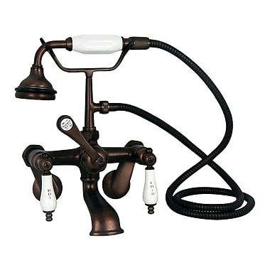 Barclay Tub Wall Mounted Filler w/ Elephant Spout; Oil Rubbed Bronze