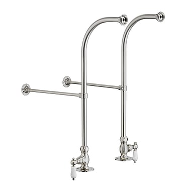 Barclay 2 Piece Freestanding Bath Supplies w/ Stops; Brush Nickel