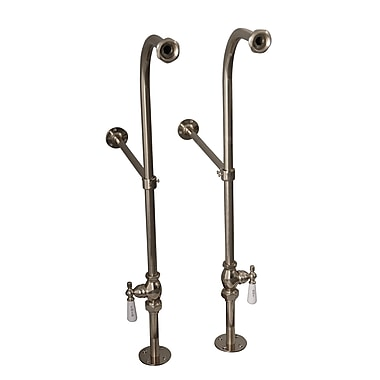 Barclay 2 Piece Freestanding Bath Supplies w/ Stops; Polished Nickel