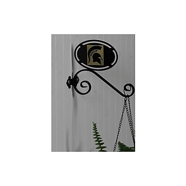 HensonMetalWorks Collegiate Wall Mounted Plant Hanger; Michigan State