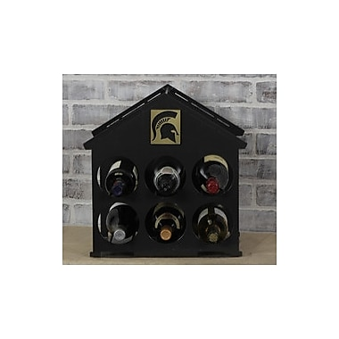 HensonMetalWorks 6 Bottle Tabletop Wine Rack; Michigan State