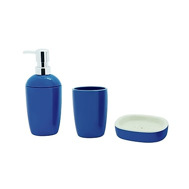 Immanuel In-Out 4-Piece Bathroom Accessory Set; Blue