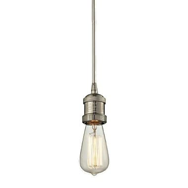 Innovations Lighting Bare Bulb 1-Light Mini Pendant; Satin Nickel