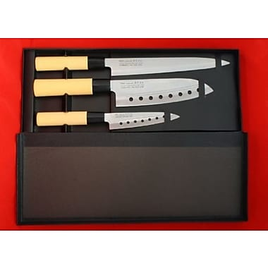 Concord Pro Line 3 Piece Sushi Santoku Chef Knife Set
