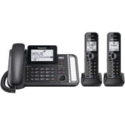 Panasonic Dect 6.0 1.9 Ghz, Link2cell, 2-line Digital Cordless Phone (2 Handsets)