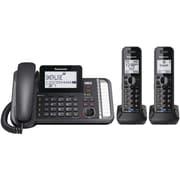 Panasonic Dect 6.0 1.9 Ghz, Link2cell, 2-line Digital Cordless Phone (2 Handsets)