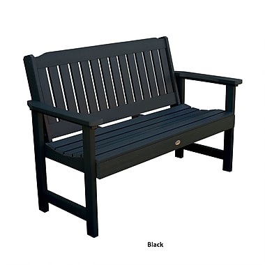 Buyers Choice Phat Tommy Wooden Lehigh Garden Bench; Black