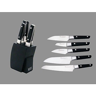 Concord 6 Piece Sushi Knives and Knife Block Set