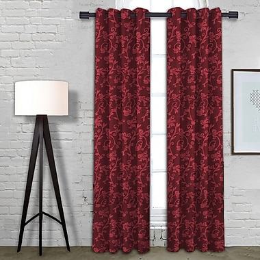 Linen Depot Direct Michelle Single Curtain Panel; Merlot