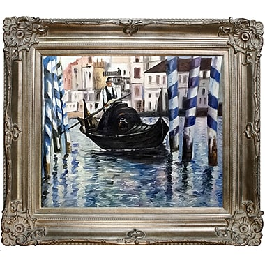 Tori Home The Grand Canal, Venice II by Edouard Manet Framed Painting Print on Wrapped Canvas