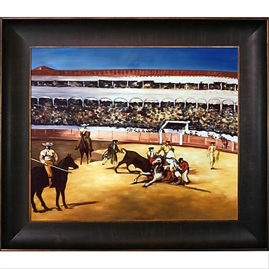 Tori Home Bullfight by Edouard Manet Framed Painting Print on Wrapped Canvas