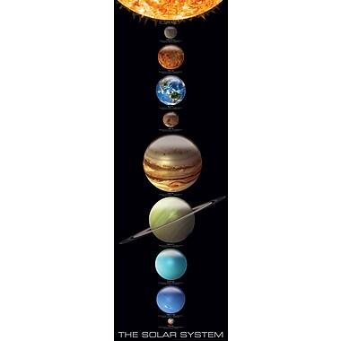 Système solaire, affiche de 12 x 36 po