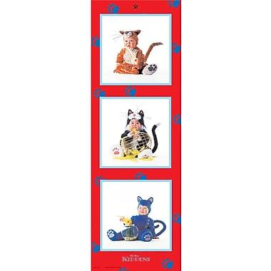 Enfants déguisés en chatons, affiche de 12 x 36 po