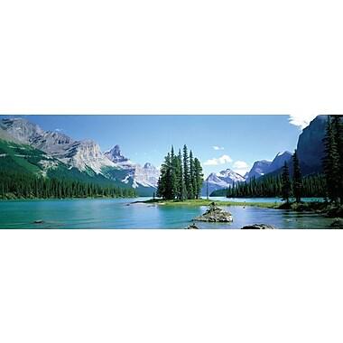 Lac Maligne, affiche de 36 x 12 po