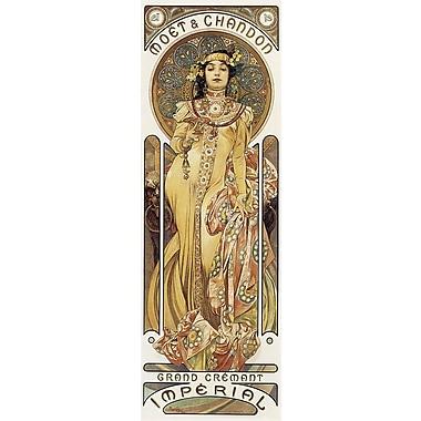 Mucha – Moët et Chandon, affiche de 12 x 36 po