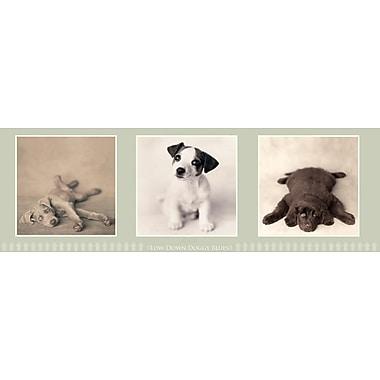 Affiche chiens nostalgiques, 12 x 36 po