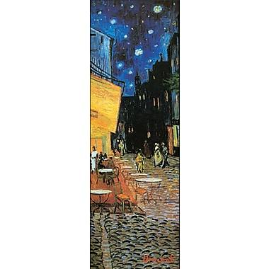 Affiche Terrasse du café le soir de Van Gogh, 12 x 36 po