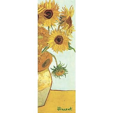 Affiche Les tournesols de Van Gogh, 12 x 36 po