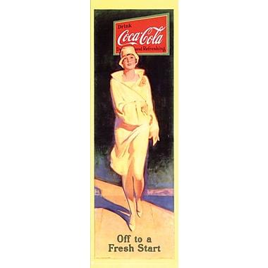 Affiche Coca Cola, Off to a Fresh Start, 12 x 36 po