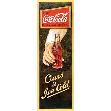 Affiche Coca-Cola, Ours is Ice Cold, 12 x 36 po