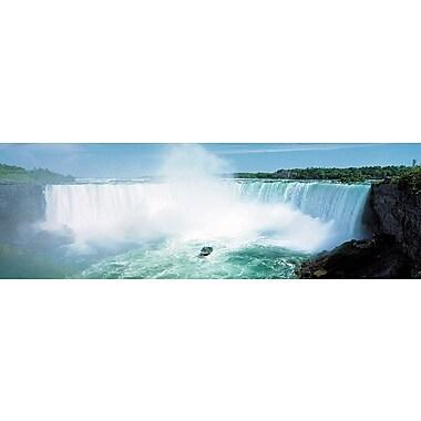 Affiche chutes du Niagara, 11 3/4 x 35 3/4 po