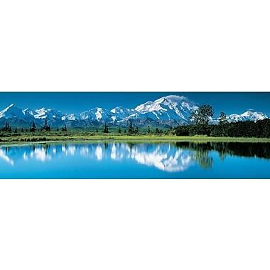 Affiche montagnes et lac, 11 3/4 x 35 3/4 po