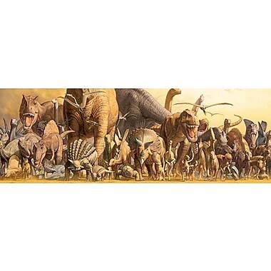 Affiche dinosaures de Takino, 12 x 36 po