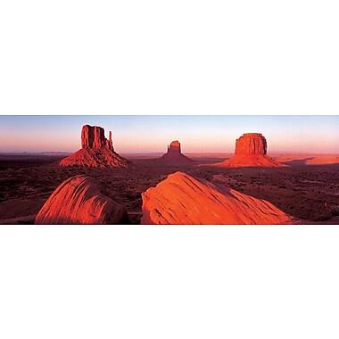 Affiche lever du soleil à Monument Valley, 11 3/4 x 35 3/4 po