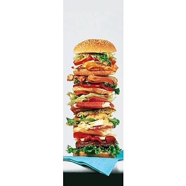 Affiche hamburger, 11,75 x 35,75 po