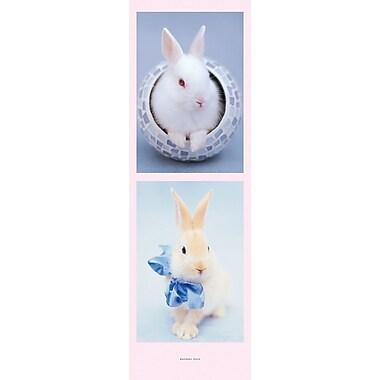 Affiche lapins, 11 3/4 x 35 3/4 po