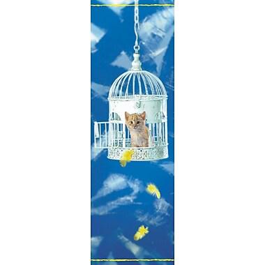 Affiche chaton dans une cage à oiseaux, 11 3/4 x 35 1/2 po