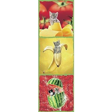 Affiche chatons dans les aliments, 11 3/4 x 35 1/2 po