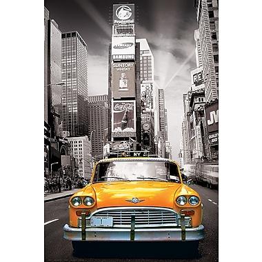 Affiche taxi jaune à New York, 24 x 36 po