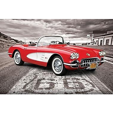 Affiche voiture classique Corvette 1959, 24 x 36 po